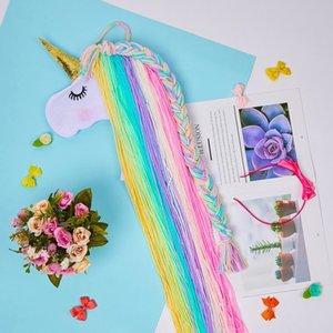 Unicorn Storage Organizer Strip Hair Clips Headwear Organizing Strip Hanger Wall Hair Bows Storage Belt Girl Hair Accessories Y200429