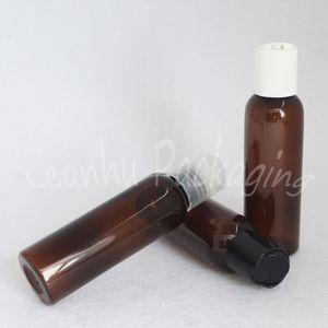 60ML Браун Пластиковые бутылки диск Top Cap, 60cc Лосьон Упаковка бутылки, Пустой косметический контейнер (50 PC / Lot)