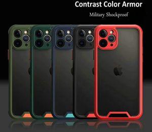جديد درع تباين اللون عالي الشفافية ... ... واضح عسكري مضاد للصدمات حالة لـ Iphone 11 Pro Max 6g 7 8 زائد XR XS MAX