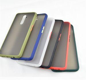 Luxe Contraste Bouton Mobile Phone Case pour OPPO Reno Ace Simple givrée Housse Pour Realme X2 Pro