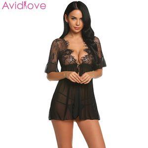 Avidlove Kadınlar Sexy Lingerie Dantel Seks İç Elbise Artı Boyutu Babydoll Chemise Porno Yaz Sıcak Erotik Lingerie Seksi Kostümleri