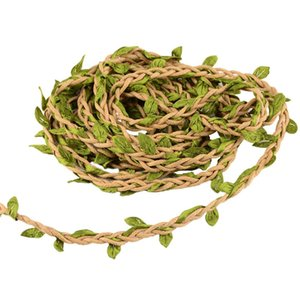 98Ft 30M Artificial Vine Fake Foliage Leaf Plant Garland Rustic Wreath Decorative Christmas Tree Decorations Wedding Home Decor
