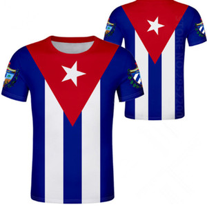 CUBA t-shirt bricolage gratuit fait sur commande nom numéro t-shirt drapeaux de la nation espagnol pays cu Ernesto Guevara imprimer photo vêtements cubains
