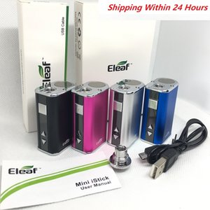 Eleaf iStick Mini 10w Battery Vape mod 1050mAh Variable Voltage Batteries Box Mod with USB Charger Cable 510 Thread adapter shipping fast