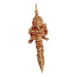 Charms Oro Spiritualità Ganesha Statua Vinayaka Amuleti collana Pendenti