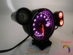 CR avance A1 BF 3 bar turbo 3BAR Gauge 7colors verdadera medidores de advertencia metros RACER ZD Racing coche que labra