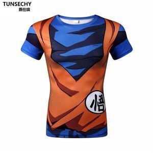 Dragon Ball T-shirt Männer Sommer Dragon Ball Z super sohn goku Slim Fit Cosplay 3D T-Shirts anime vegeta DragonBall T-shirt Homme