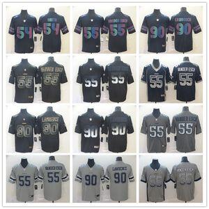 hommes DallasCowboys55 Leighton Vander Esch 90 Lawrence Smith 54 Jaylon Black Edition Smoke City Fashion Maillots Football