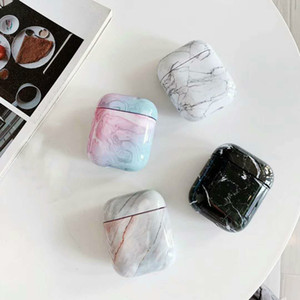 Caja protectora de mármol geográfica para AirPod 2 Pro, auriculares cubierta Accesorios para airpods manzana 12 casos