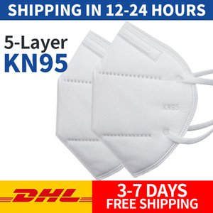 máscara facial Máscara Respirador Válvula Rosto 5 Camada Máscaras Anti Poeira máscaras de protecção PM2.5 Segurança Máscara Atacado DHL frete grátis