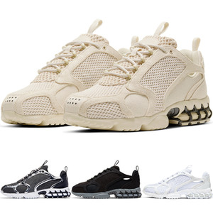 New Zoom Spiridon Caged 2 Kukini Men's Running Shoes Sports Trainers Track Black Beige Fashion Yarn Women Sneakers CQ5486-200 CJ9918-100