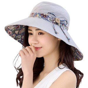 LOOZYKIT Hats & Caps Hats, Scarves & Gloves Women Summer Beach Travel Bowknot Large Wide Brim Sun Hat Fishing Fisher Reversible Foldable Cap