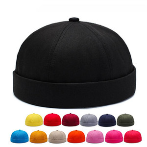 New Solid Color Landlord Hat Old Man Retro Brand Designer Cappello Gioventù Moda Cap Hip Hop Street Melone in pelle Cappellino
