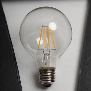 G80 LED Filamento Bulbo Luz Alto Brillo 50000hrs Lifetime E27 E14 B22 6W Bombilla de filamento LED para decoración interior