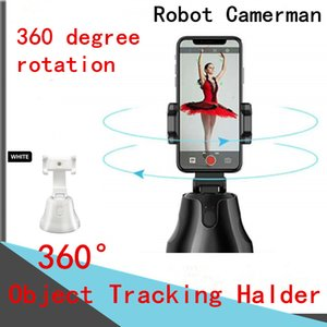 360 Objektverfolgung Halter Handys Stativköpfe 360 ° Intelligent Follow-up-PTZ-Smart-Tracking-Gimbal-Bluetooth-Verbindung Panorama-Tracking