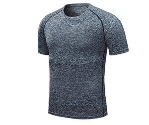 Sommermens Quick Dry T-Shirts feste kurze Hülsen-Sport-Casual Male Tops Aktiv Pure Color Homme Tees