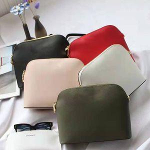 Классическая мода Shell сумка дизайнер Luxury Imported Крест зерна телячьей плеча сумку кошелек