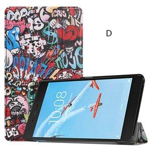 Tri-folding Folio Stand Cover PU Leather Case for Lenovo Tab E7 TB-7104F 2018 7 inch Tablet