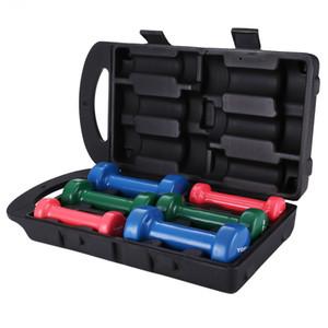 plastique trempé authentique haltère cadeau multi-couleurs boîte contenant haltère équipement d'exercice de réadaptation pour les hommes, les femmes
