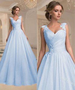 Plus Size S-5XL Sweet Girls Sleeveless A-line Wedding Party Dress Guaze Prom Dress Long Evening Dress