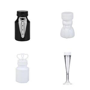 1PC Shower Bubbles Maker Empty Bubble Soap Bottles Wedding Birthday Decoration Party Favors Kids Toy Bubble Soap Bottles