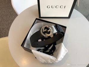 Fashion 4.0 cm di larghezza cintura d'argento oro in pelle fibbia in tela gli uomini con le cinture cinture box donne libere di trasporto 473.030 CWCWN 1070