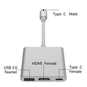 3 в 1 HUB адаптер USB 3,1 Тип C Мужской к USB3.0 HDMI HD 1080P USB-C Женский конвертер