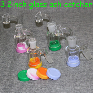 Adaptador Catcher Reclaim vidrio de 14 mm de 18 mm Hombre 45 90 Con Reclaimer ashcatcher 4 mm de cuarzo Bangers Ash Catcher adaptador para el vidrio Bongs Dab Rigs