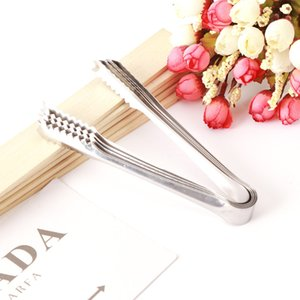 6 pulgadas mini abrazadera de hielo de acero inoxidable café azúcar pinzas barra de herramientas BARBACOA Clip de accesorios de cocina portátiles