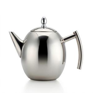 Edelstahl Teekanne Kaffeekocher mit Filter große Kapazitäts Hitzebeständige Kaffeekanne Infuser Büro Teaware Sets Heim-Tee-Topf 1L / 1.5L