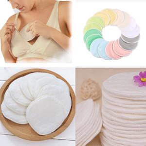 6pcs Coussinets d'allaitement réutilisables d'allaitement lavables Tapis blanc biologique anti-débordement d'allaitement Pad bébé Allaitement Accessoires