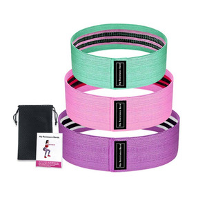 3pcs Hip Resistance Bands Set New Durable Yoga Gym Fitness Exercises Braided Elastic Hip Circle Booty Resistance Bands