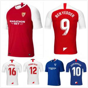 19 20 Sevilla Soccer Jersey Uniforme de fútbol 2019 casa EVER BANEGA BEN YEDDER GEIS J.NAVAS YEDDER CORREA MURIEL Camiseta de fútbol