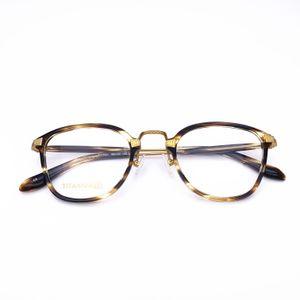 Белый оптический ацетат с Титаном старинные ретро ультралегкие Мужчины Женщины стеклянные рецептурные глаза оправа для очков Очки 17031 T200428