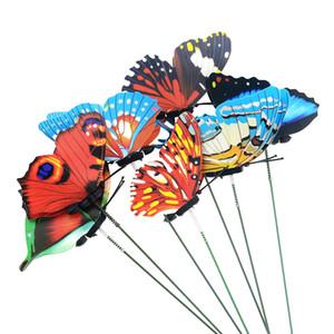 힙 장식 말뚝 바람 스피너 5PCS / 많은 25cm 나비 정원 마당 화분 다채로운 기발한 나비 스테이크 야외 장식 플로리다 ...
