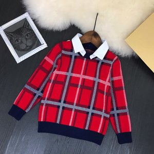 Children knitted sweater 2020 kids fashion clothing boys stand collar pullovers WSJ002 #122046