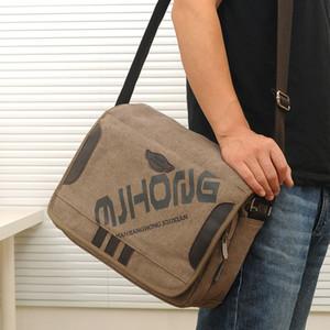 Messenger Bag hommes Homme Toile Sac à bandoulière loisirs simple Gentleman Crossbody haute capacité authentique style flip Collège