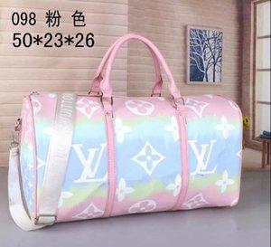 2020 novos designers luxurys sacos bolsa bolsa de couro de alta qualidade genuína flor padrão de bagagem de viagem mochilas transporte livre