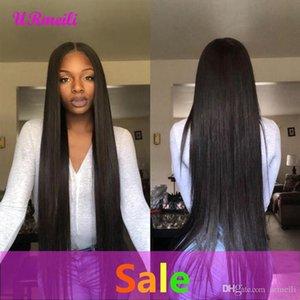 Encaje pelucas rectas del pelo humano del frente del cordón perruque brasileña virginal del pelo de Remy pelucas para las mujeres negras 150% Densidad Perruques de cheveux humains