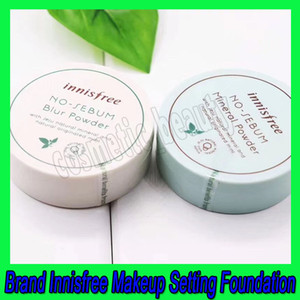 2019 العلامة التجارية الجديدة للتركيب Innisfree No Sebum Mineral Powder + Blue Powder Oil Control Loose Powder Makeep Setting Foundation 5g