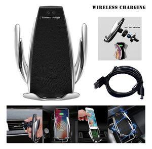S5 10W 차 홀더 아이폰 삼성을 위탁하는 무선 충전기 온도 보호 전화 홀더 산 빠른 위탁 전화 부속품