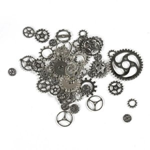 Environ 100pcs / lot bijoux DIY Fabrication Vintage Métal Engrenages Mixtes Steampunk Gear Pendentif Charmes Bronze Bracelet Accessoires