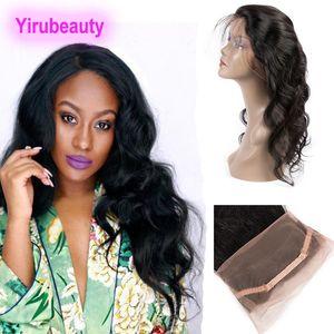 Brasilianisches reines Haar vorgezupft 360 Lace Frontal Body Wave mit Babyhaar Brasilianisches Menschenhaar 360 Lace Frontal Weaves Top Closures