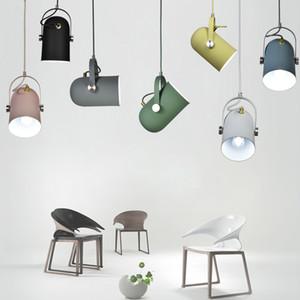 Nordic Minimalism droplight Angle réglable E27 petites lampes suspendues Décor à la maison éclairage lampe et Bar Showcase spot light moderne