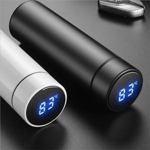 500 ml intelligente Thermos Bottiglia di acqua Display della temperatura personalizzare Logo In Acciaio Inox Tazza di acqua di Vuoto Tazza di caffè