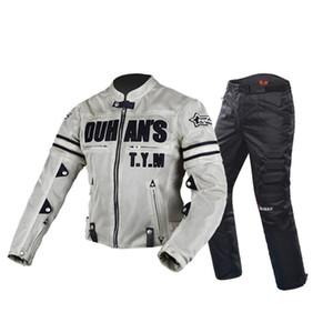 Motosiklet Ceket Motocross Takım Elbise Ceket Pantolon erkek Eşofman Moto Ceket Koruyucu Dişli Zırh Erkekler Motosiklet Giyim Boyutu M-3XL