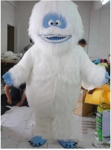 2019 Chaud Nouveau White Snow Monster Monster Costume Mascot Adulte Abominable Snowman Monster Monster Mascotte Outfit costume robe de fantaisie