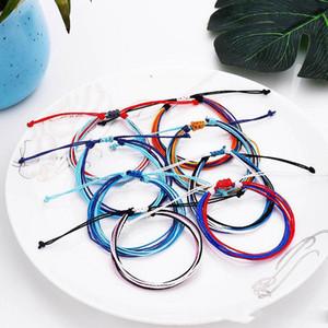Tópico cera tecido pulseiras artesanais Multilayer Amizade Jóias cera corda pulseiras Multicolour ajustável pulseira trançada