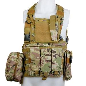 CQC RRV tattici Molle Vest caccia di assalto di combattimento Chest Rig Polizia Paintball Hunting Vest multicam