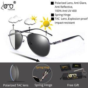 Поляризованные фотохромные Солнцезащитные очки Хамелеон TAC объектива Blue Light Блокировка Мужские очки для компьютера очки UV400 Gaming